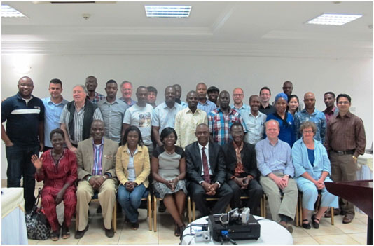 CFFRC representatives with all the participants from the workshop